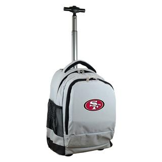 Denco Sports Mojo San Francisco 49ers Premium Grey Wheeled Backpack