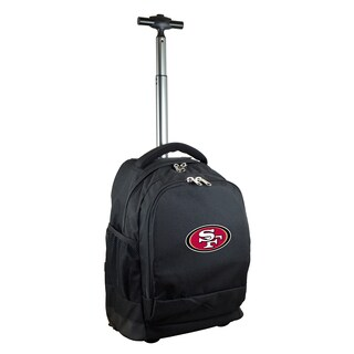 Denco Sports Mojo San Francisco 49ers Premium Black Ballistic Nylon Wheeled Laptop Backpack