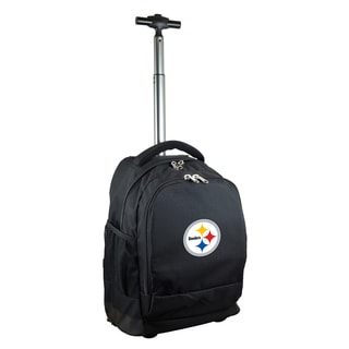 Denco Sports Mojo Pittsburgh Steelers Premium Black Wheeled Backpack
