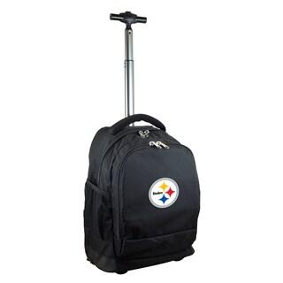 Denco Sports Mojo Pittsburgh Steelers Premium Black Wheeled Backpack