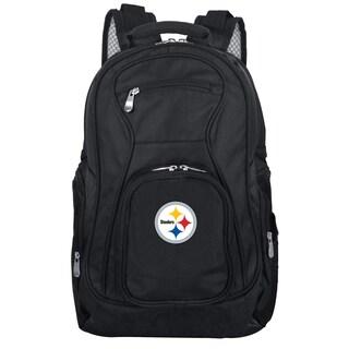 Denco Sports Mojo Pittsburgh Steelers Black Nylon and Denim 19-inch Laptop Backpack