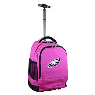 Denco Sports Mojo Philadelphia Eagles Pink Premium Wheeled Backpack