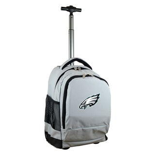 Denco Sports Mojo Philadelphia Eagles Premium Grey Nylon Wheeled Backpack