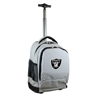 Denco Sports Mojo Oakland Raiders Premium Grey Wheeled Backpack
