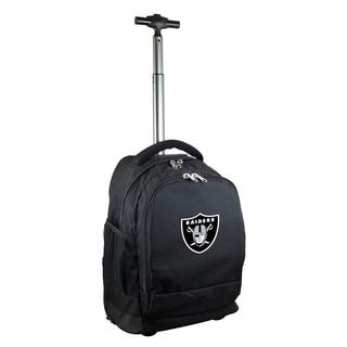 Denco Sports Mojo Oakland Raiders Black Premium Wheeled Backpack