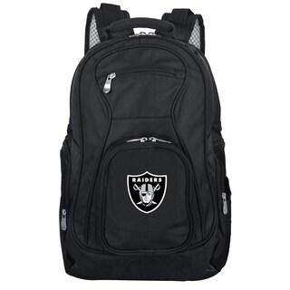 Denco Sports Mojo Oakland Raiders Black Nylon and Denim 19-inch Laptop Backpack
