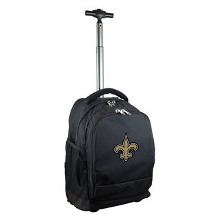 Denco Sports Mojo New Orleans Saints Black Nylon Wheeled Backpack