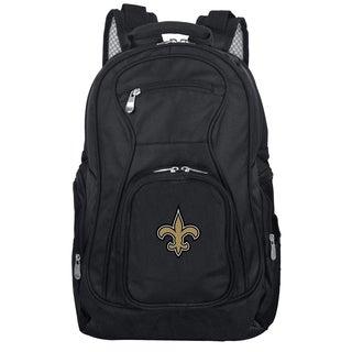Denco Sports Mojo New Orleans Saints Premium Black Ballistic Nylon 19-inch Laptop Backpack