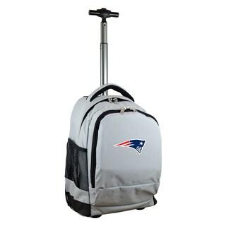 Denco Sports Mojo New England Patriots Grey Premium Wheeled Backpack