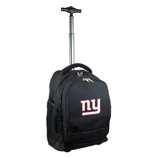 Denco Sports Mojo New York Giants Black Nylon/Denim Wheeled Backpack
