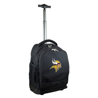 Denco Sports Mojo Minnesota Vikings Premium Black Wheeled Backpack