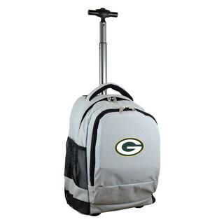 Denco Sports Mojo Green Bay Packers Grey Premium Wheeled Backpack