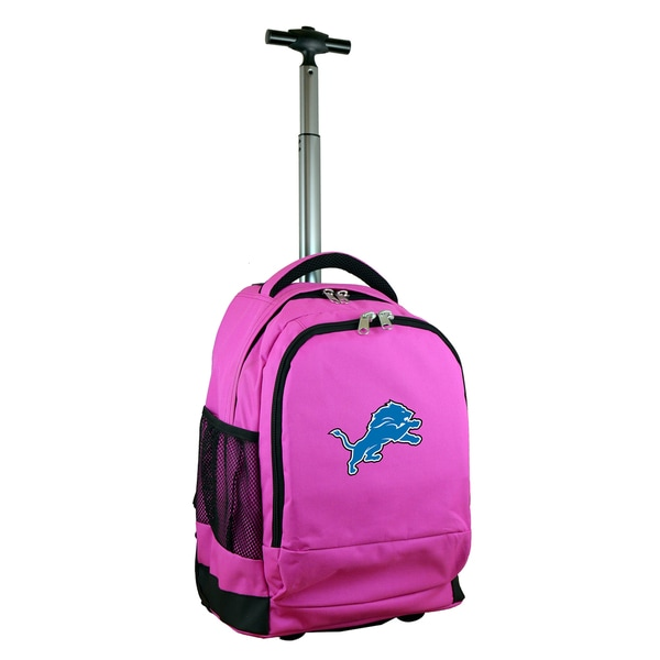 premium selection 983f6 e65f6 Denco Sports Mojo Detroit Lions Pink Nylon Wheeled Backpack