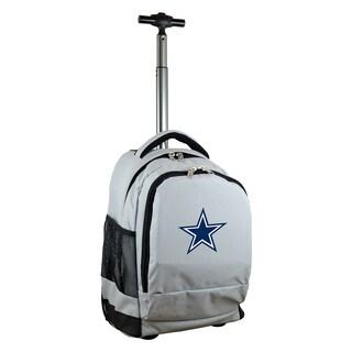 Denco Sports Mojo Dallas Cowboys Premium Grey Denim and Nylon Wheeled Backpack