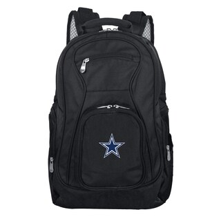 Denco Sports Mojo Dallas Cowboys Premium Black Ballistic Nylon 19-inch Laptop Backpack