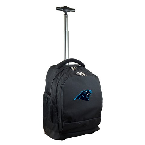 Denco Sports Mojo Carolina Panthers Premium Black Wheeled Backpack