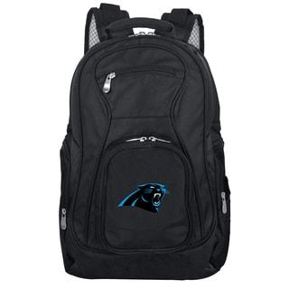 Denco Sports Mojo Carolina Panthers Premium Black Nylon 19-inch Laptop Backpack