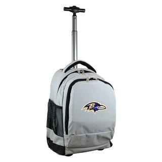 Denco Sports Mojo Baltimore Ravens Premium Grey Nylon Wheeled Backpack