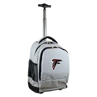 Denco Sports Mojo Atlanta Falcons Premium Grey Nylon and Denim Wheeled Backpack
