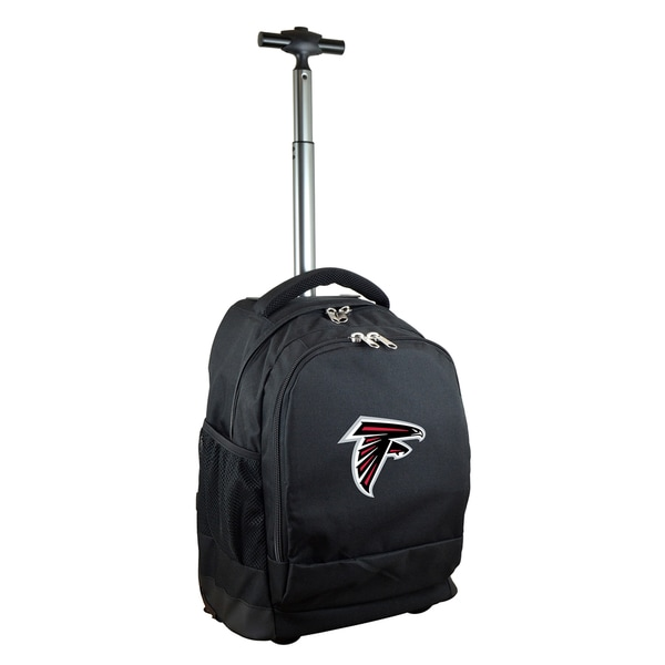 Denco Sports Mojo Atlanta Falcons Black Premium Wheeled Backpack