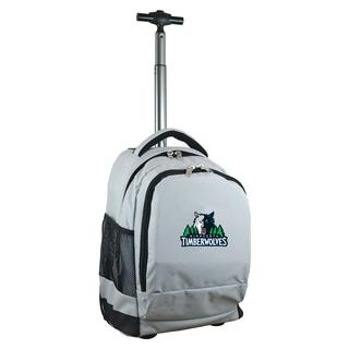 Denco Sports Mojo Minnesota Timberwolves Grey Nylon and Denim Wheeled Backpack