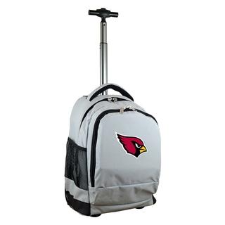 Denco Sports Arizona Cardinals Premium Grey Wheeled Backpack
