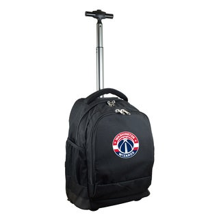 Denco Sports Mojo Washington Wizards Premium Black Ballistic Nylon Wheeled Laptop Backpack