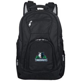 Denco Sports Mojo 'Minnesota Timberwolves' Black Nylon and Denim 19-inch Premium Laptop Backpack