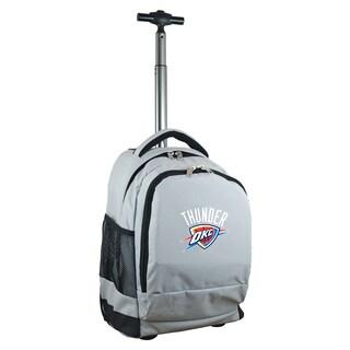 Denco Sports Mojo Oklahoma City Thunder Premium Grey Wheeled Backpack