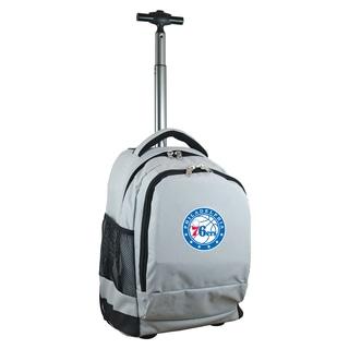 Denco Sports L780 Series Mojo Philadelphia 76ers Grey Ballistic Nylon, Nylon, and Denim Premium Wheeled Backpack