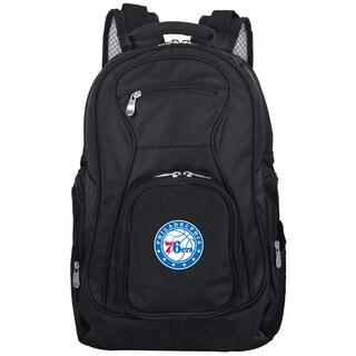 Denco Sports Mojo Philadelphia 76ers Black Nylon/Denim Premium 19-inch Laptop Backpack