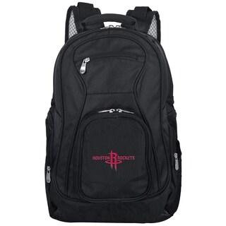 Denco Sports Mojo Houston Rockets Black Nylon 19-inch Laptop Backpack