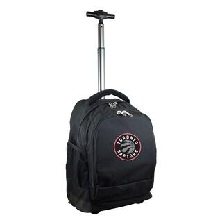 Denco Sports Mojo Toronto Raptors Premium Black Nylon and Denim Wheeled Backpack