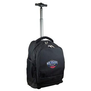 Denco Sports Mojo New Orleans Pelicans Premium Black Nylon Wheeled Backpack