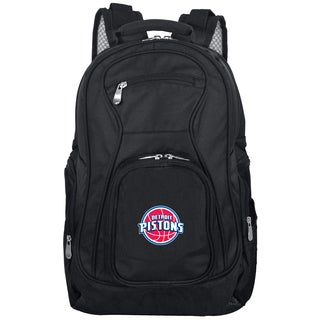 Denco Sports L703 Series Mojo Detroit Pistons Black Ballistic Nylon, Nylon, and Denim Premium 19-inch Laptop Backpack