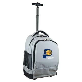 Denco Sports Mojo Indiana Pacers Grey Premium Wheeled Backpack