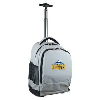 Denco Sports Mojo Denver Nuggets Premium Black Nylon Wheeled Backpack