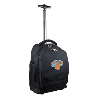 Denco Sports Mojo New York Knicks Black Premium Wheeled Backpack