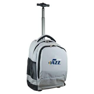 Denco Sports Mojo Utah Jazz Grey Premium Wheeled Backpack