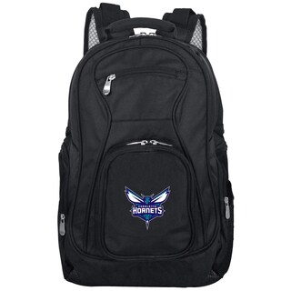 Denco Sports Mojo Charlotte Hornets Premium Black Nylon 19-inch Laptop Backpack