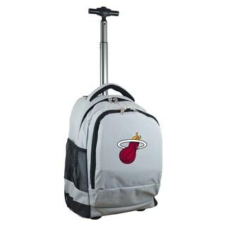 Denco Sports Mojo Miami Heat Premium Grey Wheeled Backpack