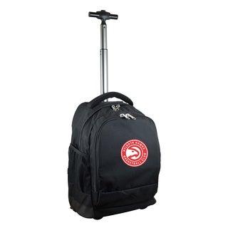 Denco Sports Mojo Atlanta Hawks Premium Black Nylon Wheeled Backpack