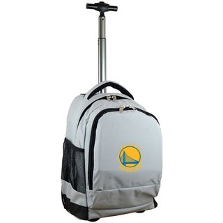 Denco Sports L780 Series Mojo Golden State Warriors Grey Ballistic Nylon, Nylon, and Denim Premium Wheeled Backpack