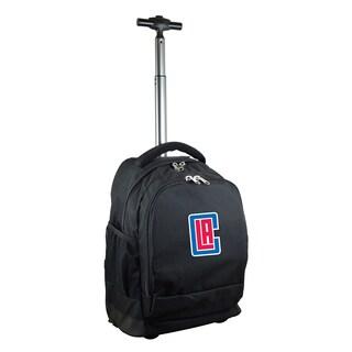 Denco Sports Mojo Los Angeles Clippers Black Wheeled Backpack