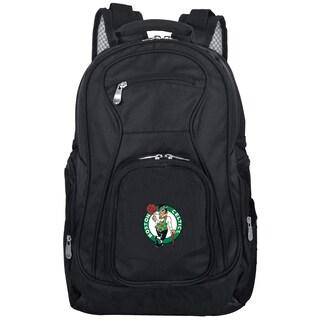 Denco Sports Mojo 'Boston Celtics' Black Nylon and Denim 19-inch Premium Laptop Backpack