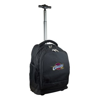 Denco Sports Mojo Cleveleland Cavaliers Black Nylon and Denim Wheeled Backpack