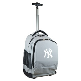 Denco Sports Mojo New York Yankees Premium Grey Wheeled Backpack