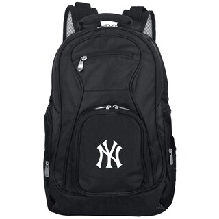 Denco Sports Mojo New York Yankees Premium Black Nylon 19-inch Laptop Backpack