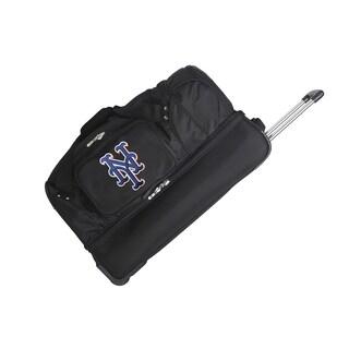 Denco Sports Mojo New York Mets 27-inch Rolling Drop-bottom Duffel Bag