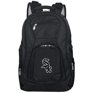 Denco Sports Mojo Chicago White Sox Black 19-inch Premium Laptop Backpack